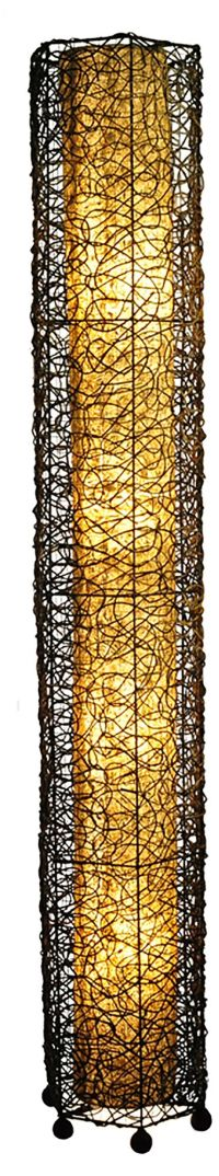 Eangee Giant Tower Durian Shade Nito Vines Floor Lamp - # ...