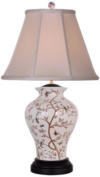 Birds in a Tree Porcelain Table Lamp - #N2017 | Lamps Plus