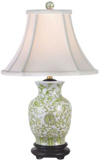 Lemon Green Porcelain Vase Table Lamp - #N2125 | Lamps Plus