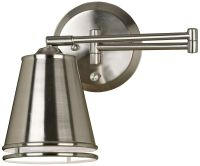 Kenroy Metro Pharmacy Nickel Plug-In Swing Arm Wall Lamp ...