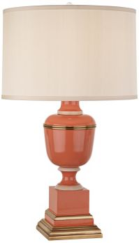 Mary McDonald Annika Cream and Tangerine Orange Table Lamp ...