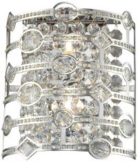 "Mica Collection 15"" High Chrome and Crystal Wall Sconce ..."