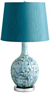 Jordan Ceramic Teal Table Lamp