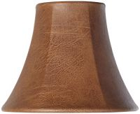 Brown Faux Leather Lamp Shade 3x6x5 (Clip-On) - #Y1843 ...