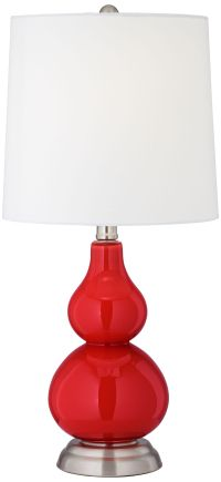 Cherry Tomato Red Small Gourd Accent Table Lamp
