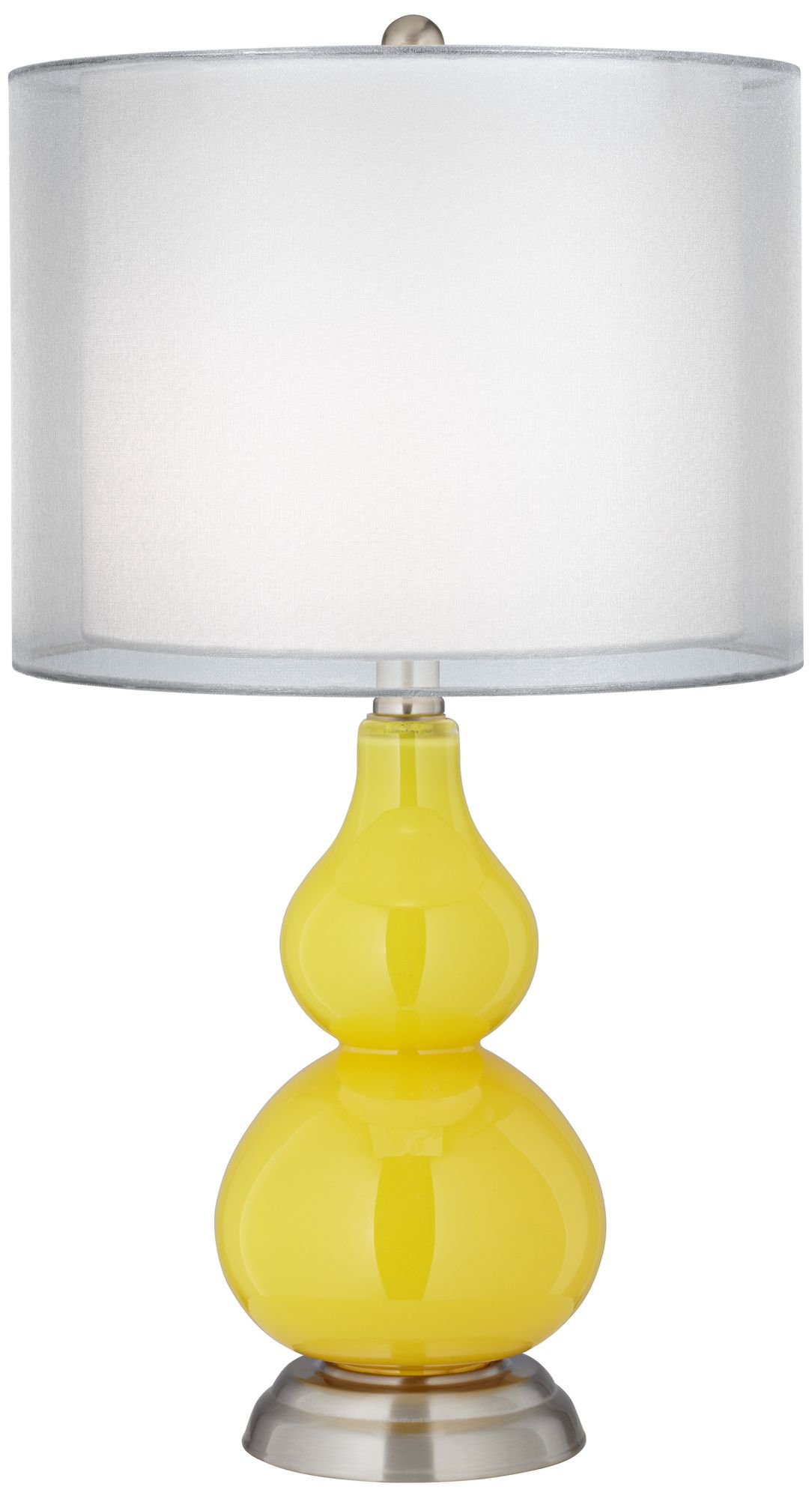Citrus Sheer Double Shade Small Gourd Accent Table Lamp