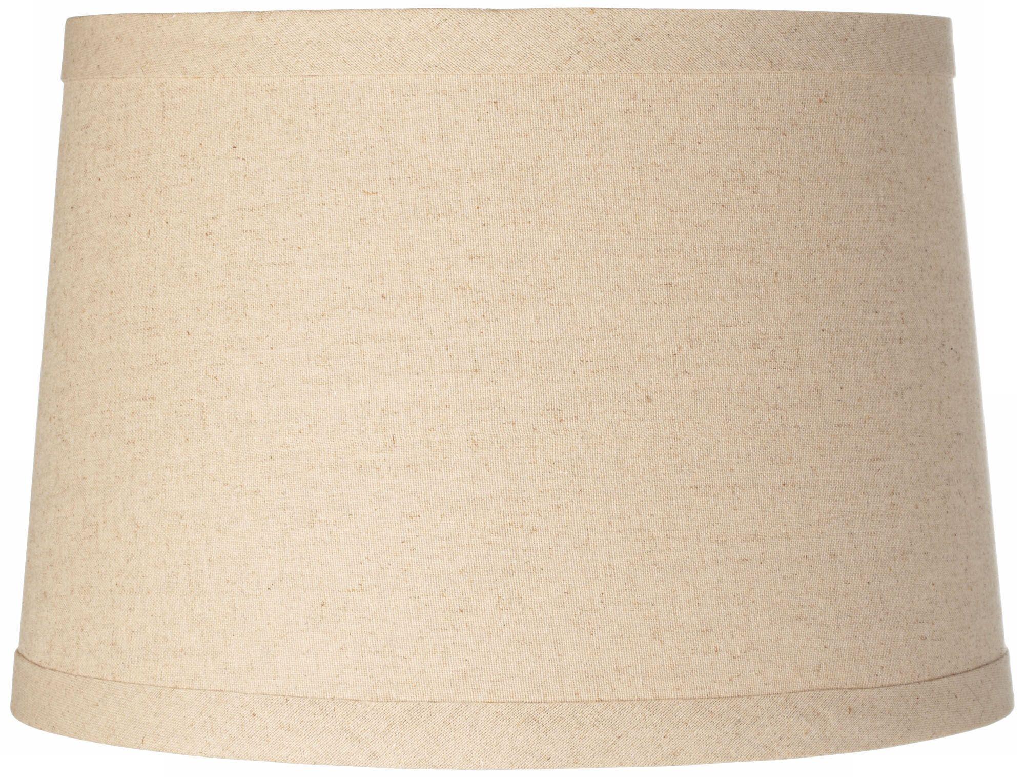 Burlap Drum Lamp Shade 14x16x11 (Spider)