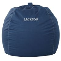 Large Personalized Dark Blue Bean Bag Chair Cover | The ...