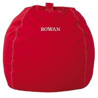 Large Personalized Red Bean Bag Chair | The Land of Nod