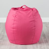 Small Personalized Dark Pink Bean Bag Chair Cover   The ...