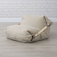 Adjustable Light Grey Bean Bag Chair | The Land of Nod