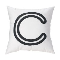 'C' Bright Letter Throw Pillow | The Land of Nod