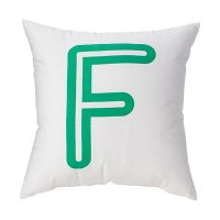 'F' Bright Letter Throw Pillow | The Land of Nod
