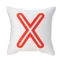 Letter X - Bright Letter Throw Pillow (Red) | The Land of Nod