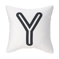 'Y' Bright Letter Throw Pillow | The Land of Nod