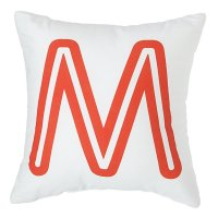 'M' Bright Letter Throw Pillow | The Land of Nod
