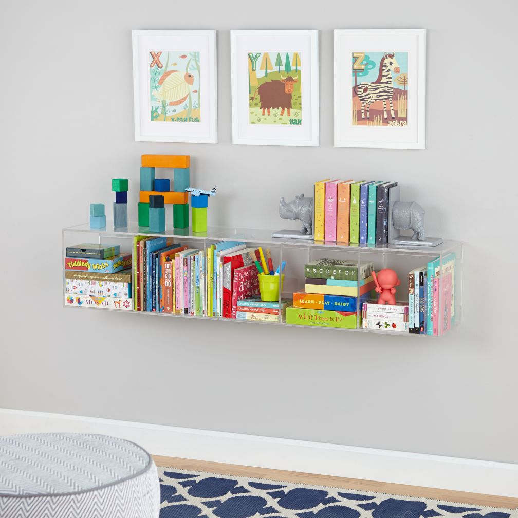 crate and barrel sofas canada sofa steam cleaning nj now you see it clear acrylic bookcase | the land of nod
