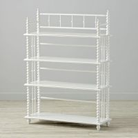Jenny Lind White Bookcase | The Land of Nod