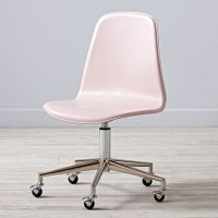 Pink/Silver Class Act Desk Chair | The Land of Nod