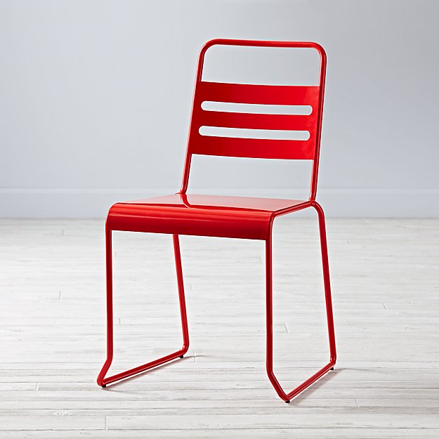 Homeroom Metal Desk Chair Red  The Land of Nod