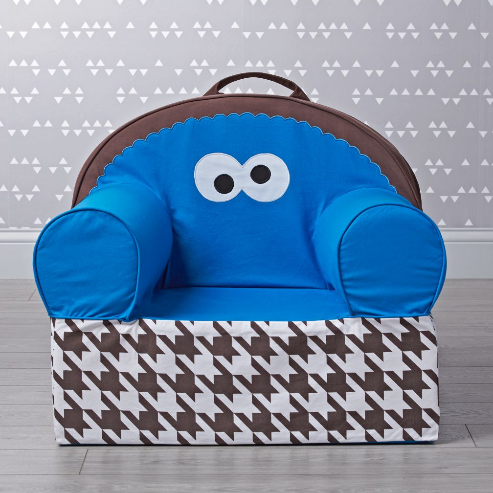 Sesame Street Large Cookie Monster Nod Chair  The Land of Nod