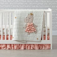 Girls Bean Bag Chairs Beach Chair With Footrest And Canopy Royal Hippo Crib Bedding | The Land Of Nod