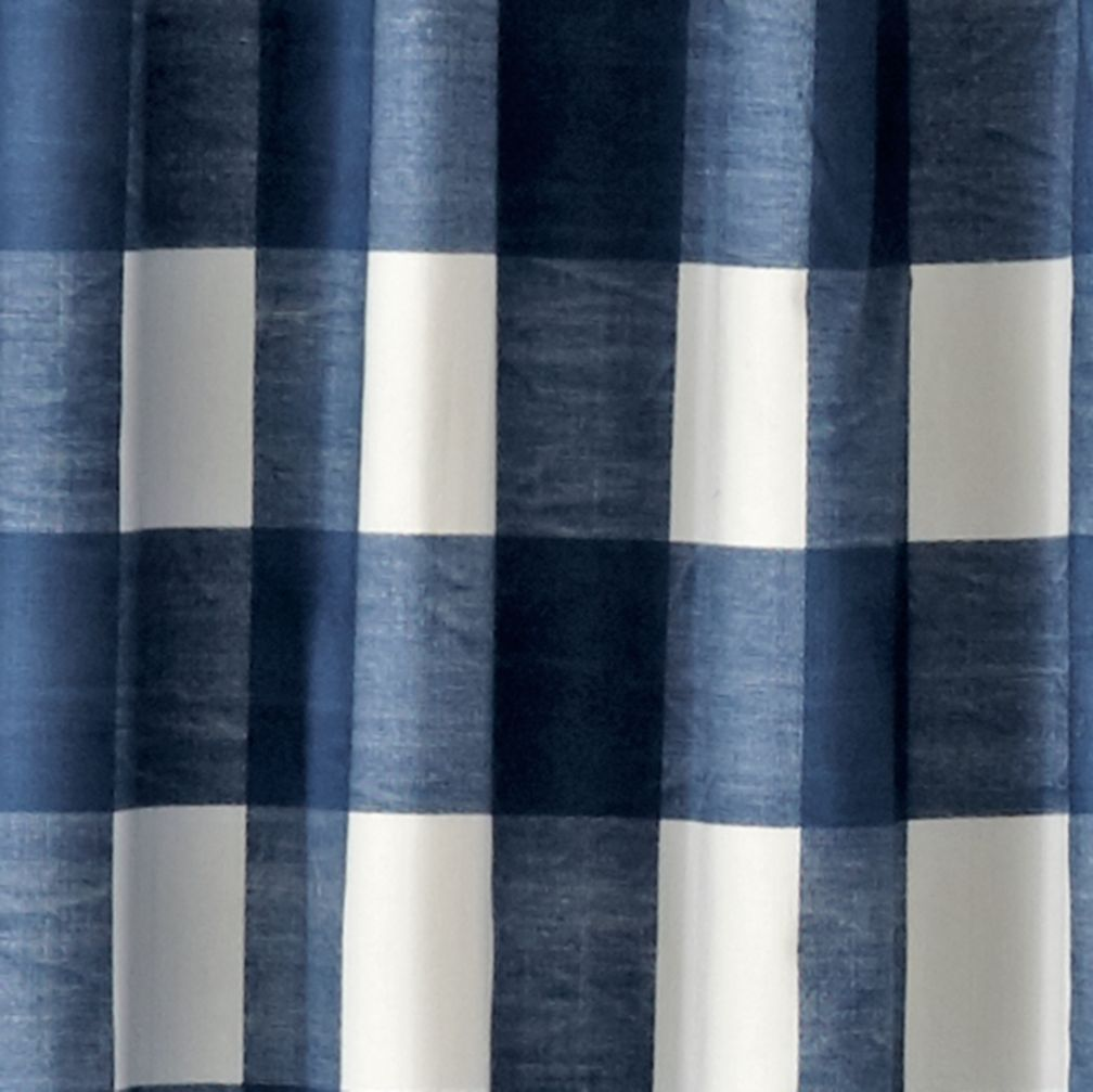 Buffalo Check Blue 63 Blackout Curtain  The Land of Nod