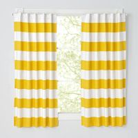 Orange And Yellow Striped Curtains | Curtain Menzilperde.Net