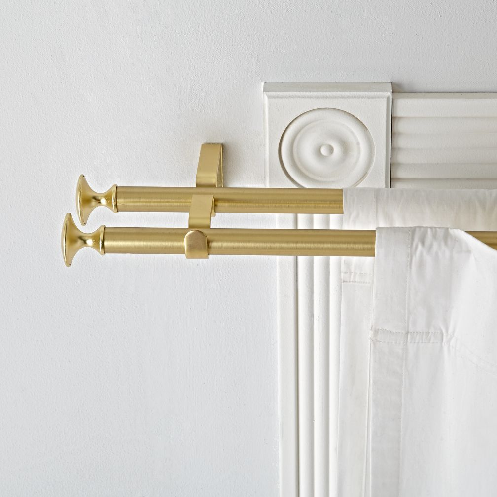 Double Gold Curtain Rod The Land Of Nod