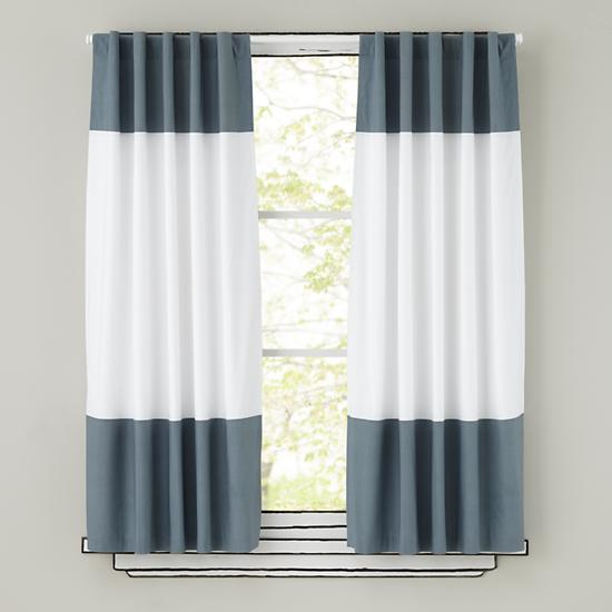 Kids Curtains Grey And White Curtain Panels The Land Of Nod