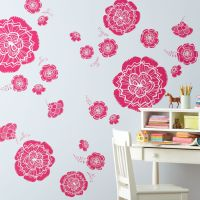 Children's Happy Life: Kids Wall Decals: Pink Flower Wall ...