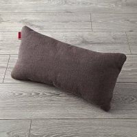 Milo Dark Grey Lumbar Pillow | The Land of Nod