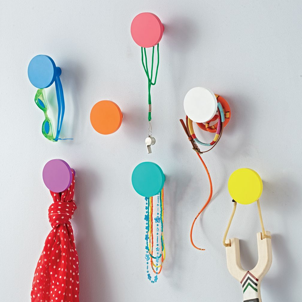 Kids Wall Hooks Round Wall Knobs  The Land of Nod