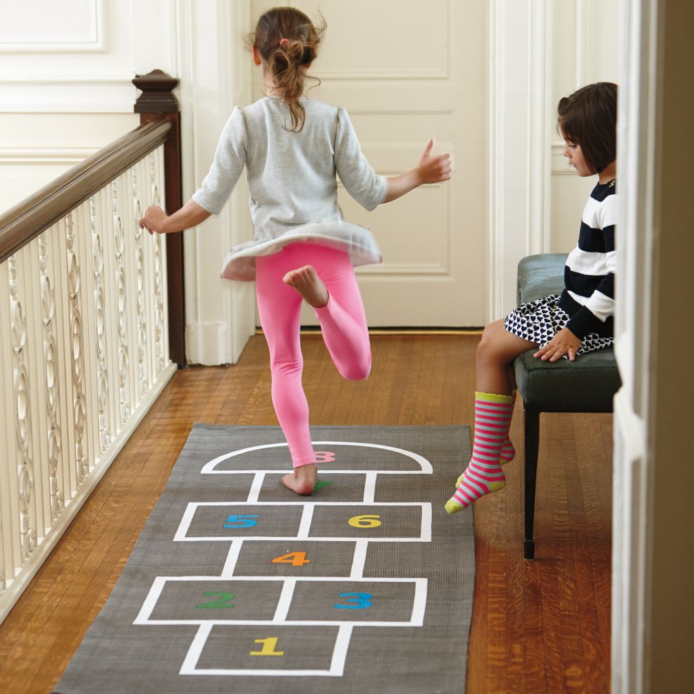 bean bag chair for toddler revolving technical specification kids hopscotch rug | the land of nod