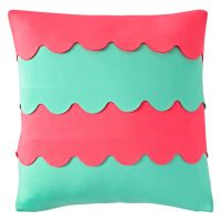 Pink And Blue Throw Pillow | The Land of Nod