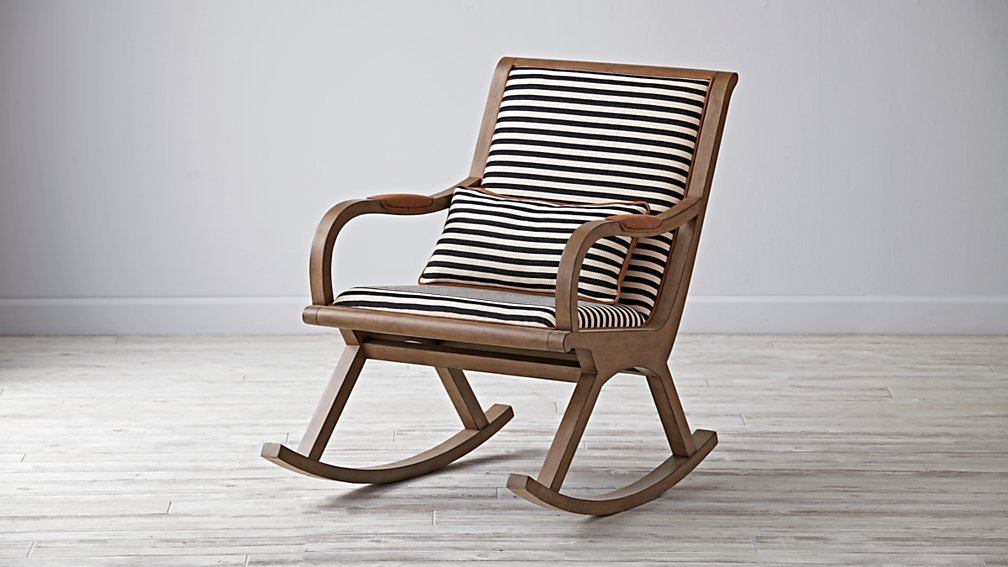 Bakersfield Black and White Rocking Chair  The Land of Nod