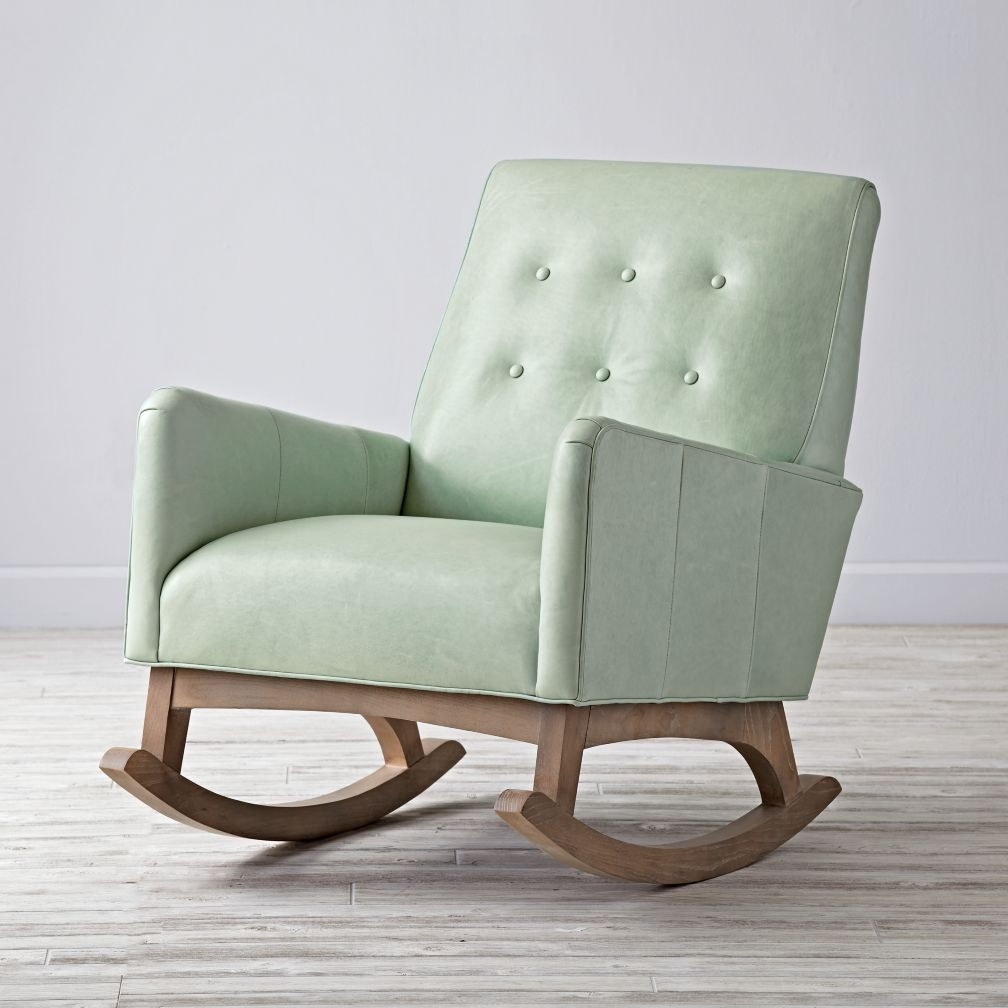 baby rocker chair acapulco bunnings nz everly vintage upholstered rocking | the land of nod