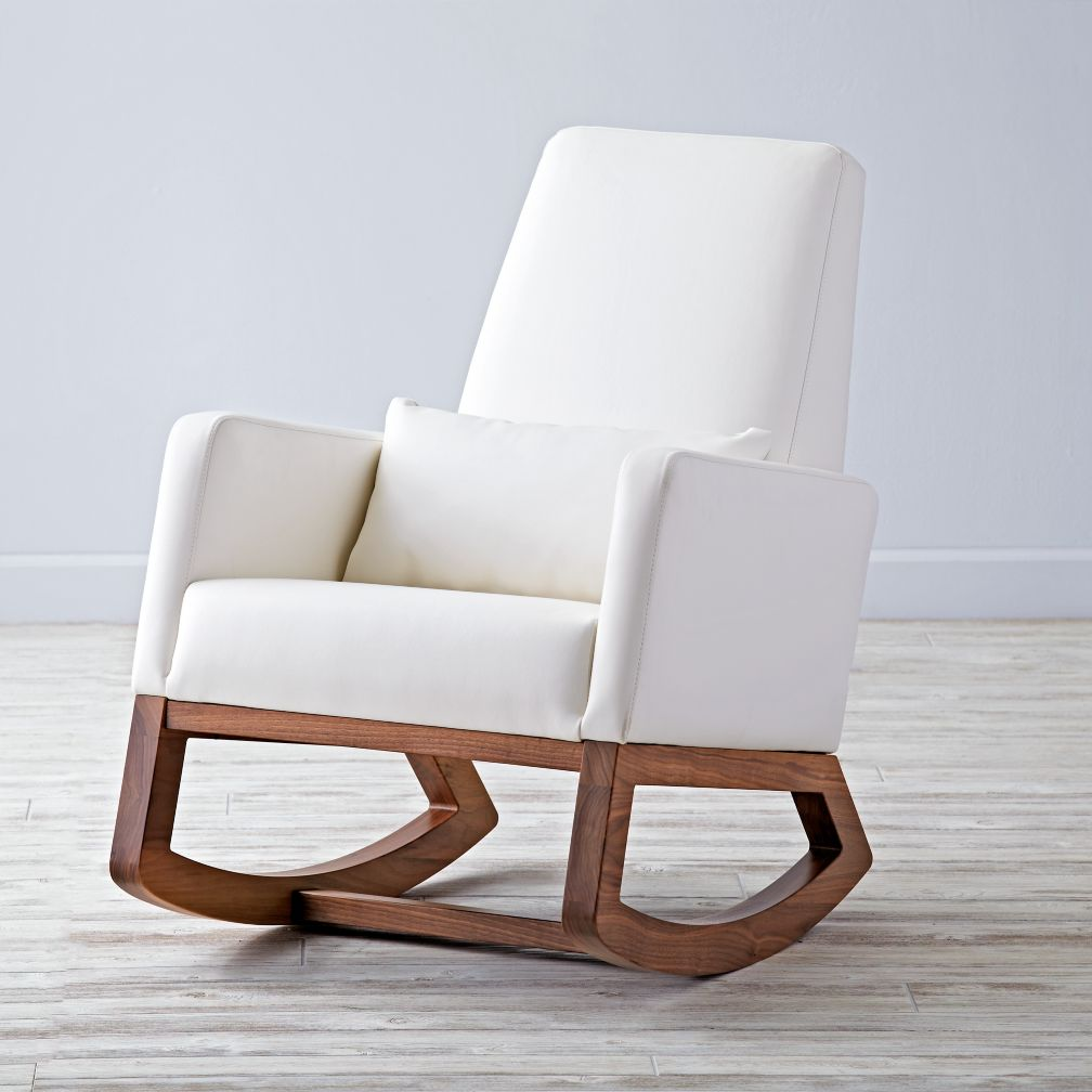 White Wooden Rocking Chairs For Nursery