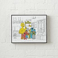 Sesame Street Sketched Wall Art | The Land of Nod