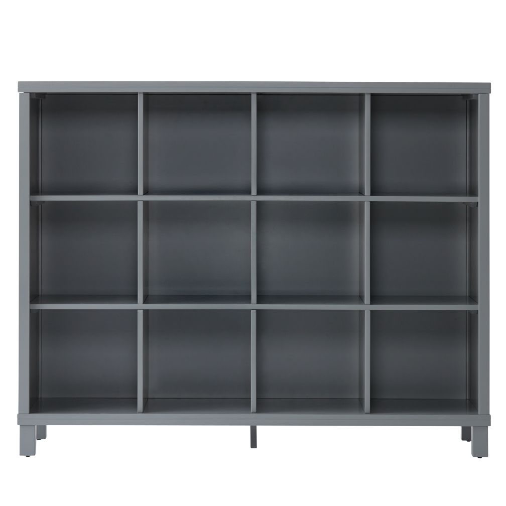 Cubic Tall Bookcase Grey 12Cube  The Land of Nod