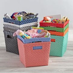 Girls Bean Bag Chairs For Living Rooms Kids' Storage Containers: Kids Canvas Cube Bin | The Land Of Nod
