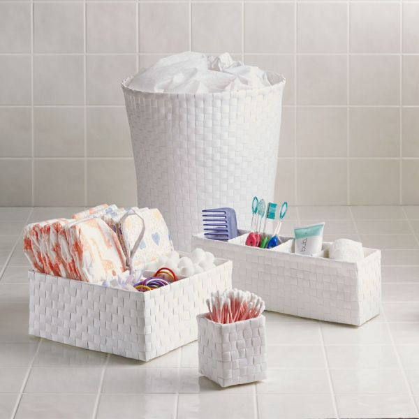 White and Blue Bathroom Accessories
