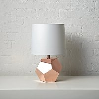 Geometric Rose Gold Table Lamp | The Land of Nod