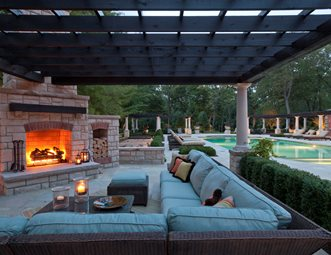 pictures outdoor fireplace