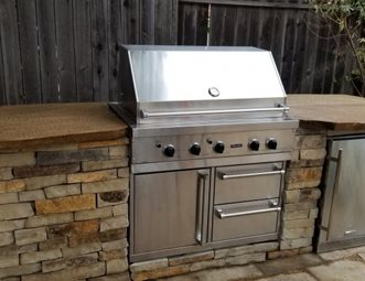 grill for outdoor kitchen cabinet stain pictures gallery landscaping network island built in greener environments los osos ca