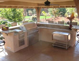 backyard kitchen designs curtains ideas outdoor pictures gallery landscaping network split level simple elegance rocklin ca