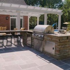 Patio Kitchen Black Table With Bench Outdoor Pictures Gallery Landscaping Network Stainless Steel Appliances Brown Design Group New Stanton Pa