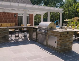 patio kitchen outdoor cabinet ideas pictures gallery landscaping network stainless steel appliances brown design group new stanton pa