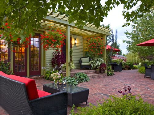 brick paving ideas - landscaping