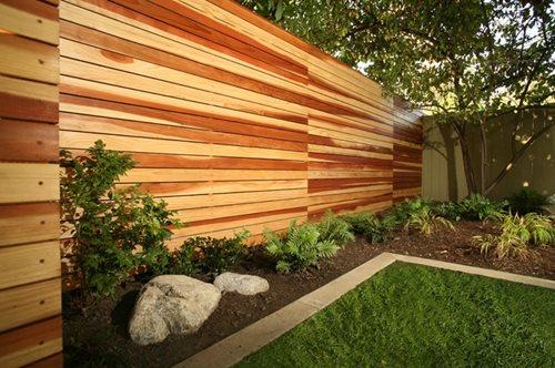 modern fencing & walls - landscaping